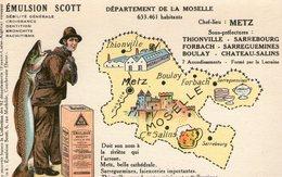 (80) CPA PUB  Emulsion Scott . Departement De La Moselle - France