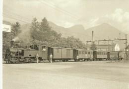 BAHNHOF  LANDQUART  TRAIN  REPRODUKTION - GR Grisons