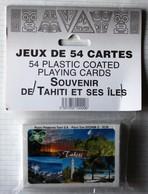 Jeu 54 Cartes à Jouer Souvenir De Tahiti Et Ses îles Polynésie Française Neuf Pacific Promotion Photo Teva Sylvain - 54 Cartes
