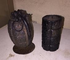 Grenade Anglaise Mills Avec Bouchon Acier  GB  Ww1 1914 18 - 1914-18