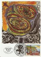 Autriche 1992/93 - Art Moderne - 2 FDC - Purification De L'eau/Peter Pongratz (YT1906) - Pâques/Max Weiler (YT1938) - Cartes-Maximum (CM)