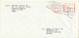 Iran Cover With Meter Cancel Sent To Denmark 13-10-1994 - Iran