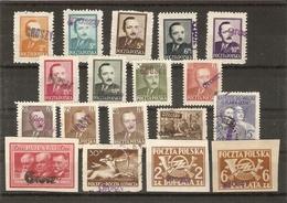 Pologne 1950 - Petit Lot De 18 Timbres ( 16 MNH/2 °) Surchargés GROSZY - Dévaluation - Président Bierut - Centaure - 1944-.... République