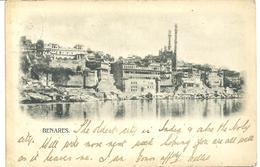 BENARES - INDIA - EARLY CARD - 1904 - WITH SEA POST OFFICE STAMP - India