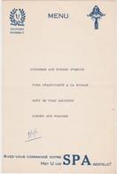 HASSELT-HOTEL-RESTAURANT-VICTORY-SPA-MENU-1961-ORIGINELE  MENUKAART+-15-22CM-ZELDZAAM ! ! ! - Hasselt