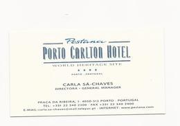 Visiting Card * Portugal * Pestana Porto Carlton Hotel * Porto - Tarjetas De Visita
