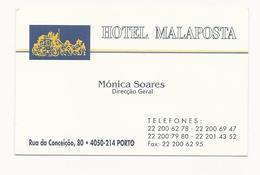 Visiting Card * Portugal * Hotel Malaposta * Porto - Tarjetas De Visita