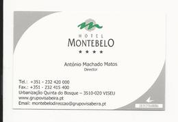 Visiting Card * Portugal * Hotel Montebelo * Viseu - Cartoncini Da Visita