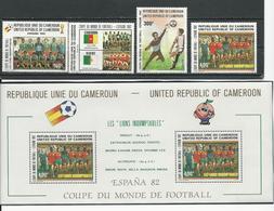 CAMEROUN  Scott 710-713, 713a  Yvert 693-696, BF19 (4+bloc) ** Cote 29,00  $ 1982 - Cameroun (1960-...)
