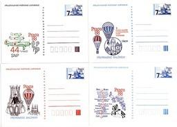 Czechoslovakia 1988 World Stamp Exhibition PRAGA - Set Of 4 - Ansichtskarten