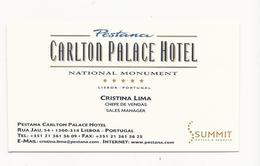 Visiting Card * Portugal * Pestana Carlton Palace Hotel * Lisboa - Tarjetas De Visita