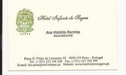 Visiting Card * Portugal * Hotel Infante De Sagres * Porto - Tarjetas De Visita