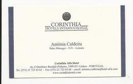 Visiting Card * Portugal * Corinthia Hotels International * Lisboa - Tarjetas De Visita