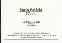 Visiting Card * Portugal * Porto Palácio Hotel - Tarjetas De Visita