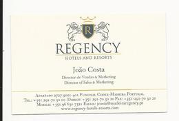 Visiting Card * Portugal * Regency Hotels And Resorts * Funchal * Madeira - Tarjetas De Visita