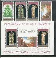 CAMEROUN  Scott 753-756, 756a  Yvert 732-735, BF20 (4+bloc) ** Cote 23  $ 1983 - Cameroun (1960-...)