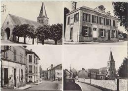 Crespieres , Seine Et Oise. CPSM Grd Format Multivues. La Mairie, La POste, L'Eglise, Vue Générale. Etat Parfait - France