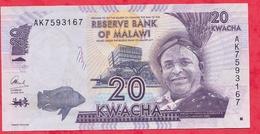 Malawi 20 Kwacha 2012 En UNC (3) - Malawi
