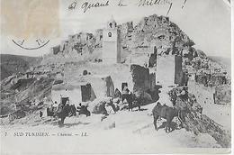 TUNISIE (SD Tunisien ) ; Chenini- Vue Du Village Animé (1909 ) - Tunisia