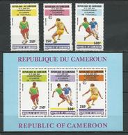 CAMEROUN  Scott C313-C315, C315a  Yvert PA327-PA329, BF22 (3+bloc) ** Cote 19  $ 1984 - Cameroun (1960-...)