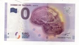 Billet Touristique De L'homme De Tautavel - Fictifs & Spécimens
