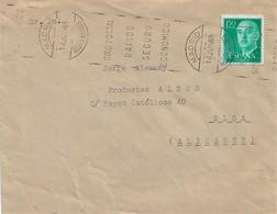 A7. ESPAÑA. Carta Con Rodillo Tipo Bernal. MADRID ALCANCE MEDIODIA. Rodillo Giro Postal. Postal History. - 1961-70 Cartas