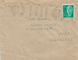 A7. ESPAÑA. Carta Con Rodillo Tipo Bernal. MADRID ALCANCE MEDIODIA. Rodillo Giro Postal. Postal History. - 1931-Hoy: 2ª República - ... Juan Carlos I