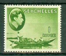 Seychelles: 1938/49   KGVI    SG146     1R   Yellow-green    MH - Seychelles (...-1976)