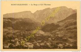 74.  MONT SAXONNEX .  Le Bargy Et Col D'Encrenaz . - France