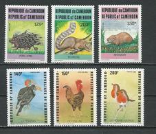 CAMEROUN  Scott 792-794, 798-800  Yvert 771-773, 777-779 (6) ** Cote 16  $ 1985 - Cameroun (1960-...)