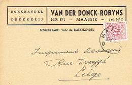 PK Publicitaire MAASEIK 1952 - VAN DER DONCK - ROBYNS - Drukkerij - Boekhandel - Maaseik