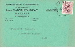 """PK Publicitaire MAASEIK 1953 - Firma VANVENCKENRAY """"IN DE DRY CRONEN"""" - Drukkerij, Boek- & Papierhandel Te MAASEIK - Maaseik"""