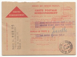 Contre-remboursement Du 2 Mars 1951 Au Havre - Non Classificati