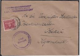 DIENSTMARKEN : Mi 6 /  Deux Lettres + N° 21 / 3 Lettres Dont 1 Paire + 31/ L TTes De Krakau Entre 30.11.1940 Et 19.2.194 - 1939-44: 2. WK
