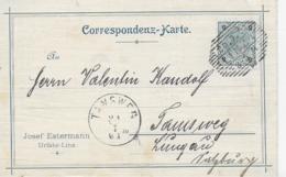 AK 0066  Geschäfts Correspondenz-Karte Von Linz Nach Tamsweg Um 1901 - Briefe U. Dokumente