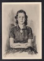 DR Arbeitsmaid Mit Hakenkreuzbrosche - Karte1 - Weltkrieg 1939-45