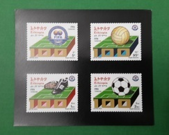 ETHIOPIA ETHIOPIE ¤ DELUXE PROOF EPREUVE DE LUXE ¤ 2004 CENTENNIAL CENTENARY OF FIFA SOCCER FOOTBALL ¤ ULTRA RARE - Ethiopie