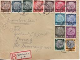 Mi N° 1/13/  L. RECOMM De WARSCHAU C1/23.2.40-> DANZIG / 27.2.40 Joint Mi N° 1/13/ 2 L. RECOMM De WARSAWA/15.1.1940-> Ze - 1939-44: 2. WK
