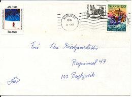 Iceland Cover Reykjavik 16-12-1981 Stamps + Christmas Seal - 1944-... Republique
