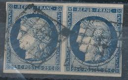 N°4 PAIRE NUANCE ET OBLITERATION. - 1849-1850 Cérès