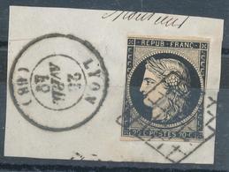 N°3SUR FRAGMENT AVRIL 1849 - 1849-1850 Cérès