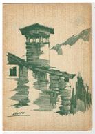 Cartolina Cogne - Una Vecchia Casa A Lillaz - Disegno Di Davite - Altre Città
