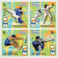 Roumanie 6037/40 JO De Rio Brasil, Judo, Tir, Escrime, Athlétisme - Estate 2016: Rio De Janeiro