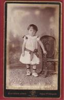 Oude Foto Antwerpen Anvers Carte De Visite Portrait Kind Child Enfant Fille Hugo Pieron Loodts Old Photo - Ohne Zuordnung