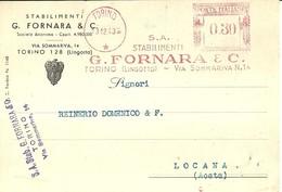 """1698 """" STABILIMENTI G. FORNARA & C.- RICHIESTA DI FORNITURA CARBONE VEGETALE """"CARTOLINA POSTALE  ORIG. SPEDITA - Commercio"""