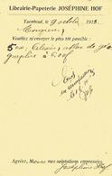 PK Publicitaire TURNHOUT 1915 - JOSEPHINE HOF - Boek- En Papierhandel - Turnhout