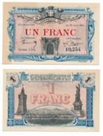 1914-1918 // C.D.C. // TOULON // 19 Juin 1916 // Un Franc - Chambre De Commerce