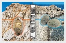 Kroatië / Croatia - Postfris/MNH - Sheet Mineralen En Rotsen 2018 - Kroatië