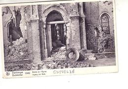Ghyvelde ( Noté Dunkerque Entrée De L'église 1940 En Ruines - Autres Communes