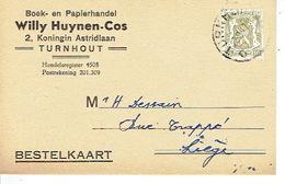 PK Publicitaire TURNHOUT 1960 - WILLY HUYNEN - COS - Boek- En Papierhandel - Turnhout